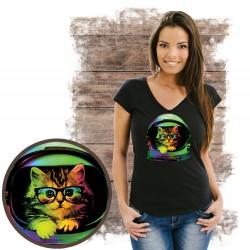 "Koszulka damska z kotem  ""Pink Blanket Kitten"""