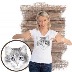 """Koszulka damska z kotem """"Seashell Kitten"""""""