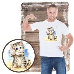 """Koszulka dziewczęca """"Kitten & Pink Feathers"""""""