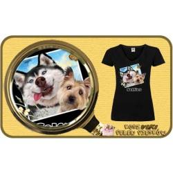 Koszulka damska z pieskiem DOGS SELFIE
