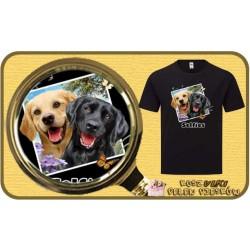 Koszulka męska z psem LAB DOGS SELFIE