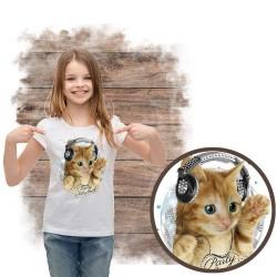 koszulka z kotem PARTY ANIMAL RHINESTONES