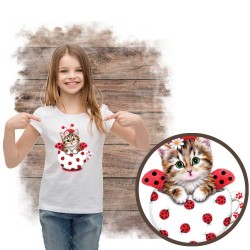 Cup kitty lady bug