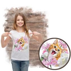 """Koszulka dziewczęca z kotem """"SELFIE CAT 1"""""""