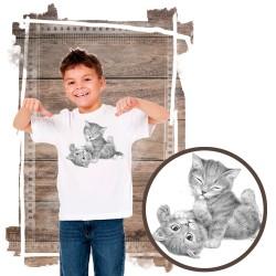 """Koszulka chłopięca z kotem """"KITTENS PLAYING"""""""