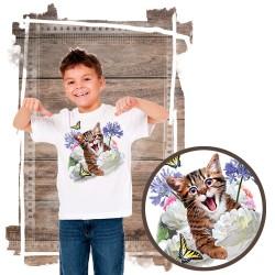 "Koszulka chłopięca z kotem ""SELFIE KITTEN"""