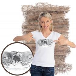 """Koszulka damska z kotem """"THREE KITTENS"""""""