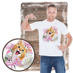 "Koszulka męska z kotem ""SELFIE CAT 1"""