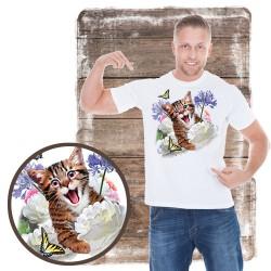 "Koszulka męska z kotem ""SELFIE KITTEN"""