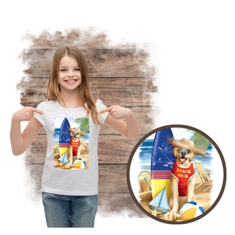 """Koszulka dziewczęca motyw plaża  """"BEACH BUM"""""""