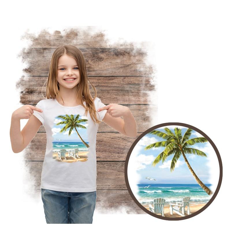 """Koszulka dziewczęca motyw plaża  """"HIDDEN BEACH"""""""