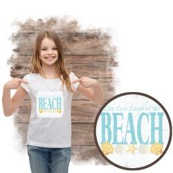 """Koszulka dziewczęca motyw plaża  """"BEACH III"""""""