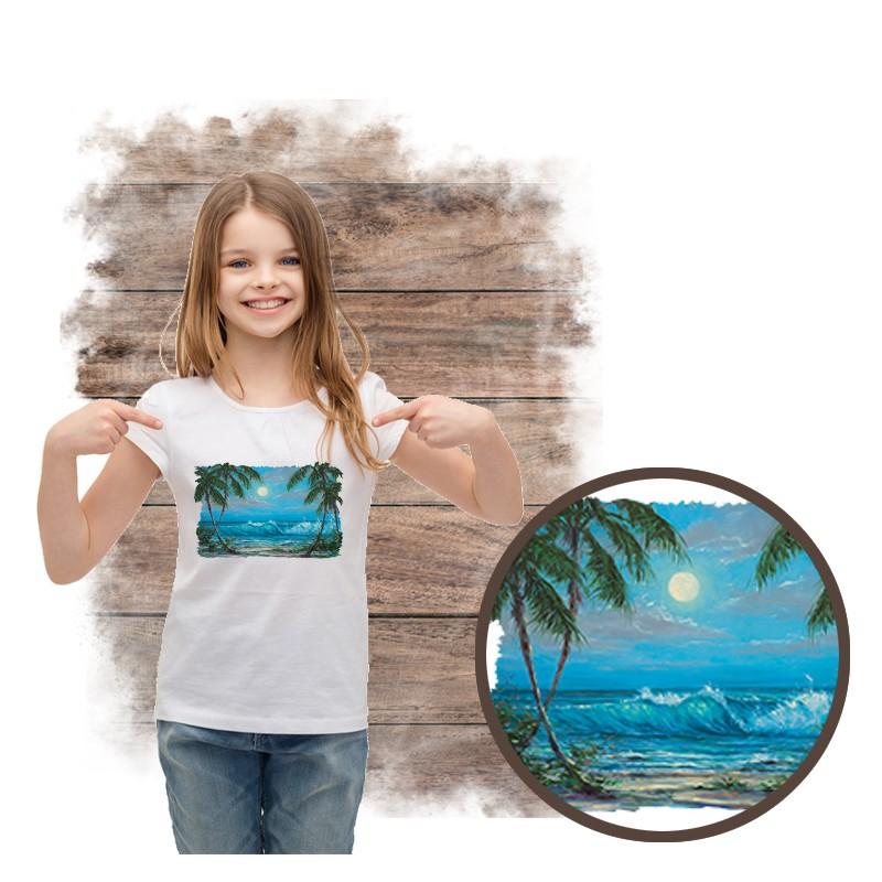 """Koszulka dziewczęca motyw plaża  """"LUMINOUS WATERS"""""""