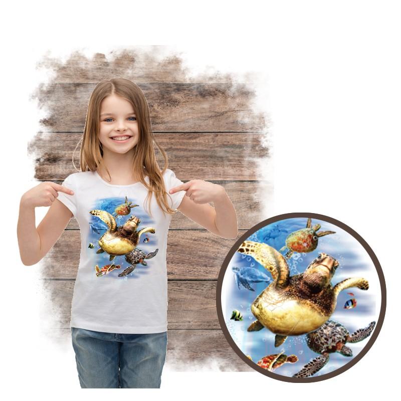 """Koszulka dziewczęca motyw morze  """"SEA TURTLES"""""""