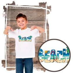 """Koszulka chłopięca motyw plaża  """"BEACH DAYTIME"""""""