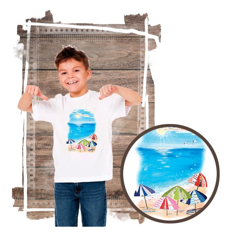 "Koszulka chłopięca motyw plaża  ""UMBRELLA BEACH"""