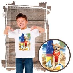 """Koszulka chłopięca motyw plaża  """"BEACH BUM"""""""