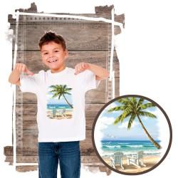"""Koszulka chłopięca motyw plaża  """"HIDDEN BEACH"""""""