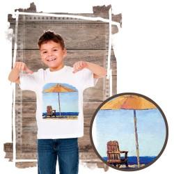 """Koszulka chłopięca motyw plaża  """"RELAXING"""""""