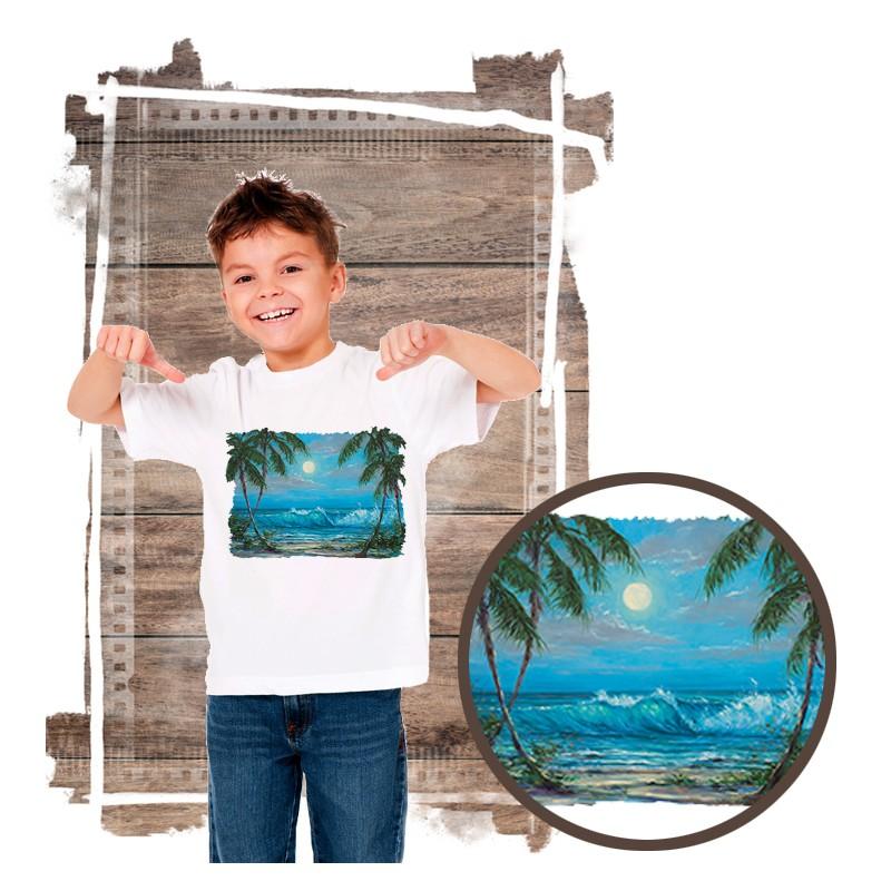 """Koszulka chłopięca motyw plaża  """"LUMINOUS WATERS"""""""