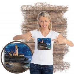 "Koszulka damska motyw plaża  ""BEACH LIGHTHOUSE"""