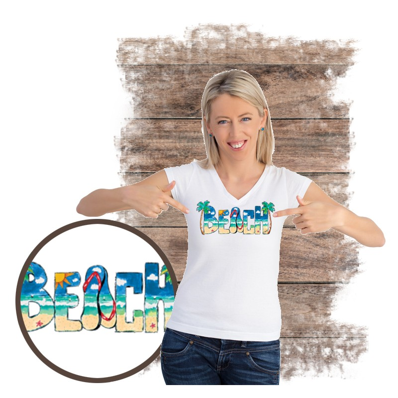 "Koszulka damska motyw plaża  ""BEACH DAYTIME"""