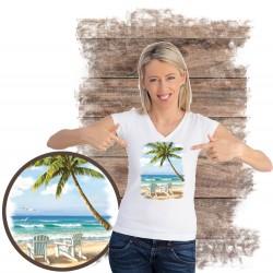 "Koszulka damska motyw plaża  ""HIDDEN BEACH"""
