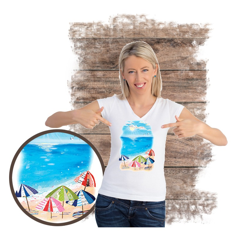 "Koszulka damska motyw plaża  ""UMBRELLA BEACH"""