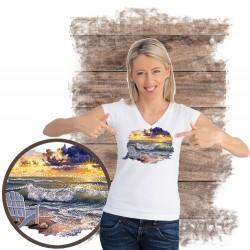 """Koszulka damska motyw plaża  """"BE STILL"""""""