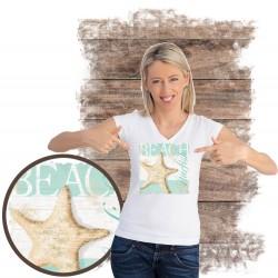 "Koszulka damska motyw plaża  ""BEACH"""