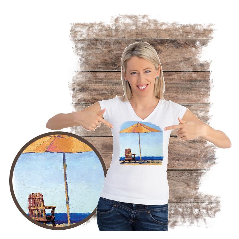 "Koszulka damska motyw plaża  ""RELAXING"""
