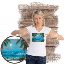 "Koszulka damska motyw plaża  ""LUMINOUS WATERS"""