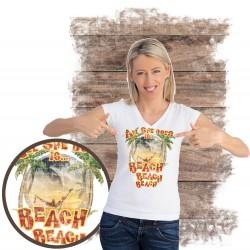 "Koszulka damska motyw plaża  ""ALL SHE DOES"""