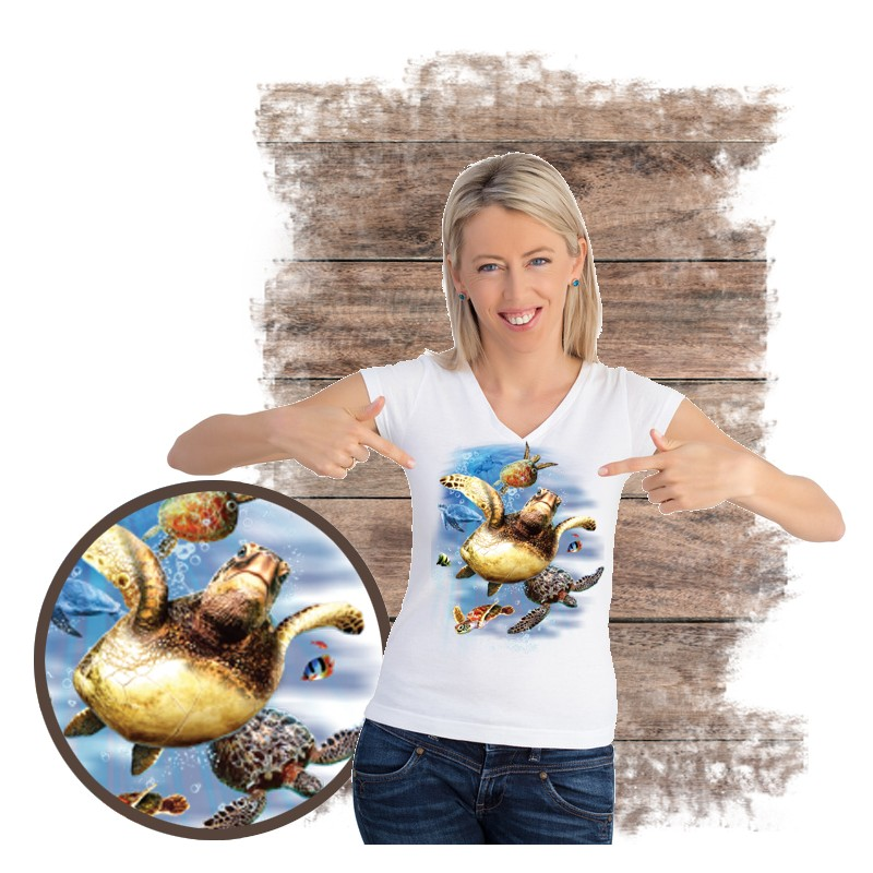 "Koszulka damska motyw morze  ""SEA TURTLES"""