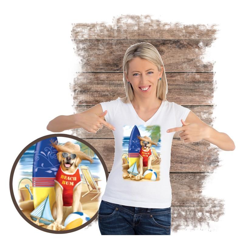 "Koszulka damska motyw plaża  ""BEACH BUM"""