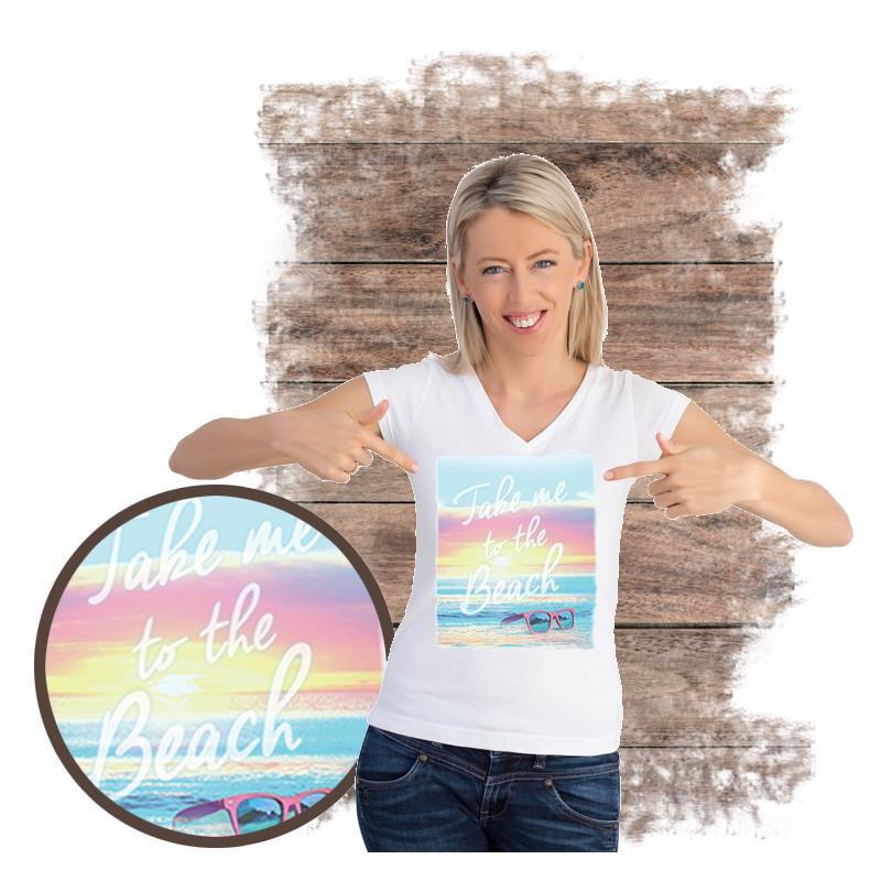"Koszulka damska motyw plaża  ""TAKE ME TO THE BEACH"""