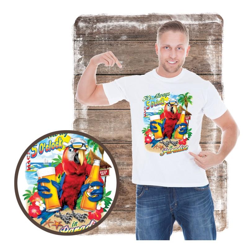 "Koszulka męska motyw plaża ""CHILLAXIN"""