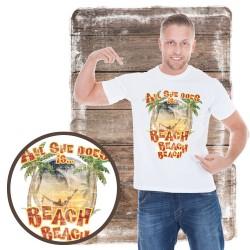 "Koszulka męska motyw plaża ""ALL SHE DOES"""