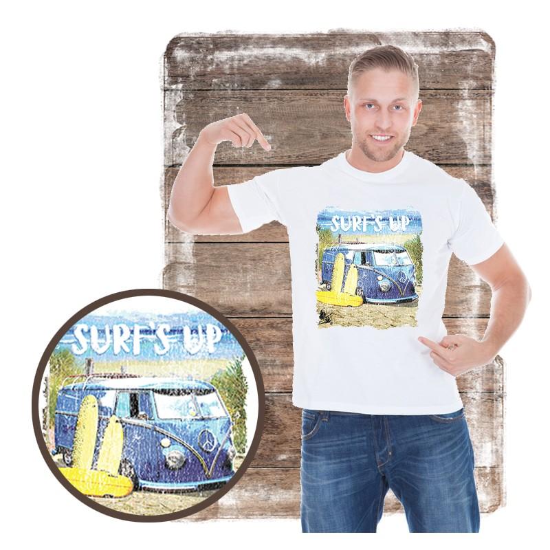 "Koszulka męska motyw plaża ""SURF'S UP VAN"""