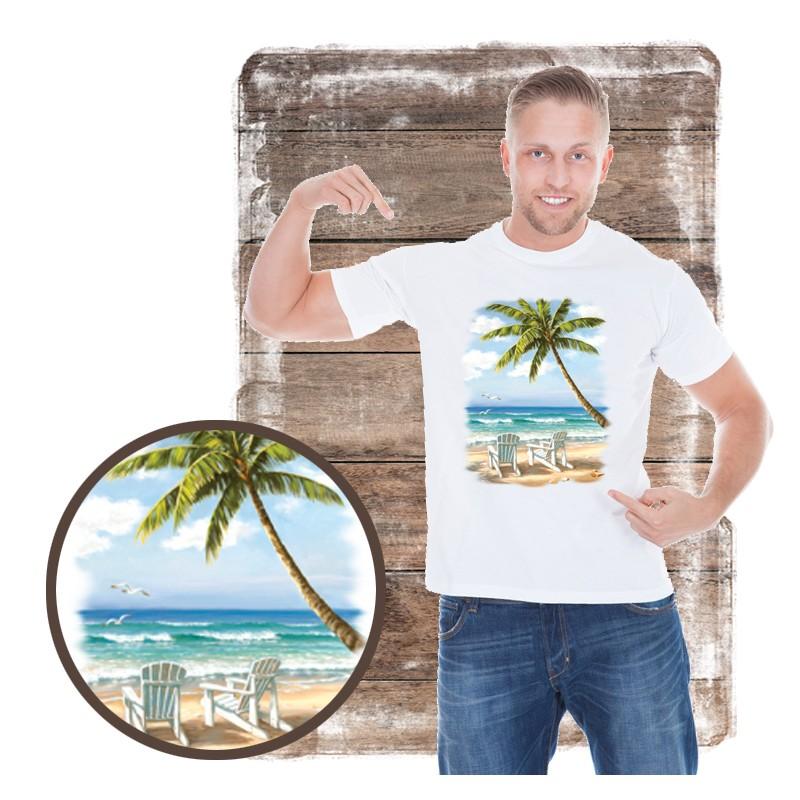 "Koszulka męska motyw plaża ""HIDDEN BEACH"""