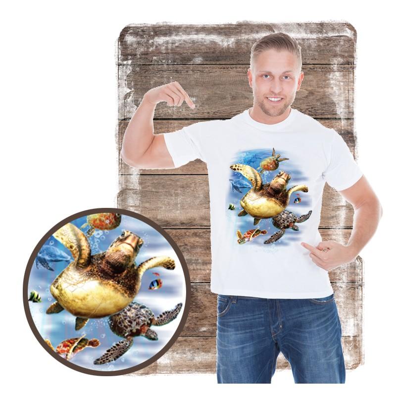 "Koszulka męska motyw plaża ""SEA TURTLES"""
