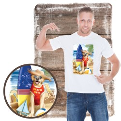"Koszulka męska motyw plaża ""BEACH BUM"""