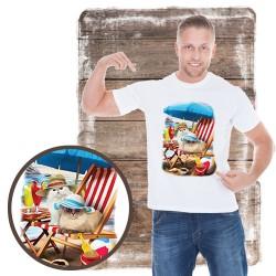 "Koszulka męska motyw plaża ""BEACH CATS"""