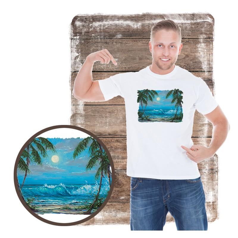 """Koszulka męska motyw plaża """"LUMINOUS WATERS"""""""