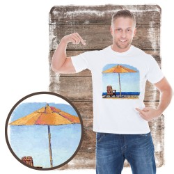 "Koszulka męska motyw plaża ""RELAXING"""