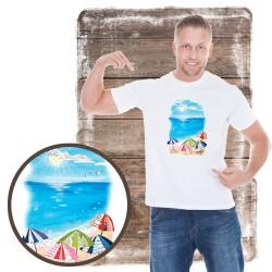 """Koszulka męska motyw plaża """"UMBRELLA BEACH"""""""