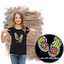 """Koszulka dziewczęca motyw plaża  """"FLIP FLOP SPARKLE PUFF"""""""