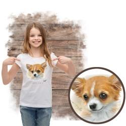 Koszulka dziewczęca z psem...