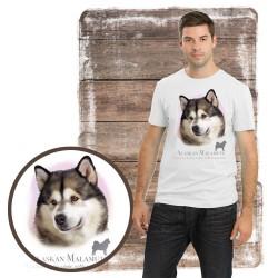 "Koszulka męska z psem ""alaskan malamute"""