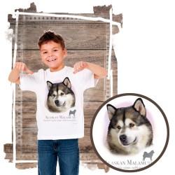 """Koszulka chłopięca z psem """"alaskan malamute"""""""